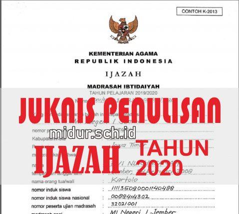 JUKNIS PENULISAN IJAZAH 2020