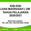 Kisi-Kisi UM Tahun 2020/2021 PAI, BA